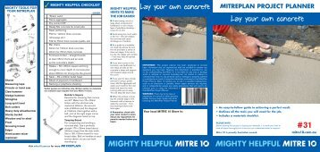 Lay your own concrete Lay your own concrete - Mitre 10