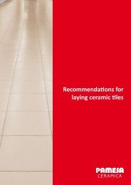 Recommendations for laying ceramic tiles - Pamesa