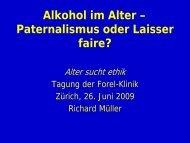 Alkohol im Alter - Forel Klinik
