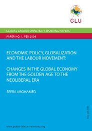 Economic Policy, Globalization and the Labour Movement: Changes
