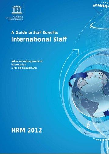 International Staff HRM 2012 - UNESCO