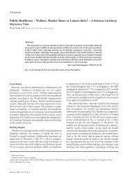 Public Healthcare – Welfare, Market Share or Laissez-faire? – A ...