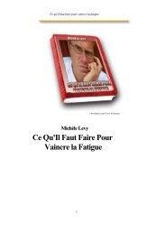 Michèle Levy Ce Qu'Il Faut Faire Pour Vaincre la Fatigue