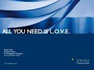 "Keynote: ""All you need is L.O.V.E."" - SolveDirect"