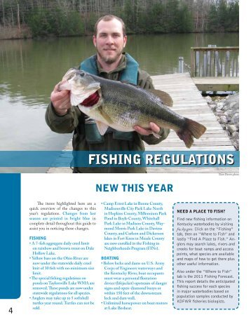 Fishing Regulations - Kentucky Department of Fish and Wildlife ...