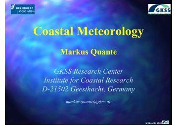 Coastal Meteorology - Institute of Coastal Research