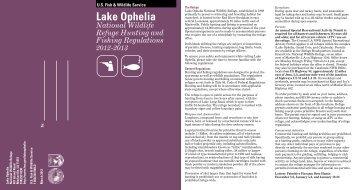 Lake Ophelia - U.S. Fish and Wildlife Service