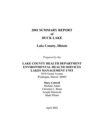 Duck Lake - Lake County Health Department - Lake County Illinois