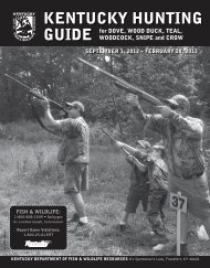 Dove Guide - Kentucky Department of Fish and Wildlife Resources