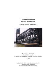 Cleveland Lakefront Rail Bypass Study