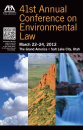 41st Annual Conference on Environmental Law - American Bar ...