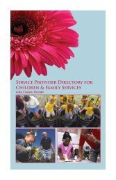 Service Provider Directory For Children & Family ... - Lake County