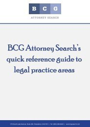 BCG Attorney Search's quick reference guide to legal practice areas