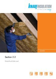Pitched roofs - rafter level - Knauf Insulation