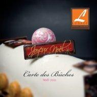 cartes bûches lesage 2011 - Pâtisserie Lesage Annemasse (74)