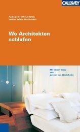 Wo Architekten schlafen - Hotel Alpina Vals