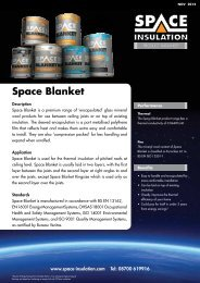 Product Datasheet - Space Insulation