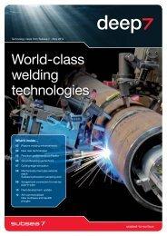 World-class welding technologies - Subsea 7