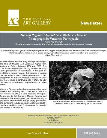 Spring 2012 - The Thunder Bay Art Gallery