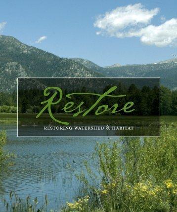 RESTORING wATERSHED & HABITAT