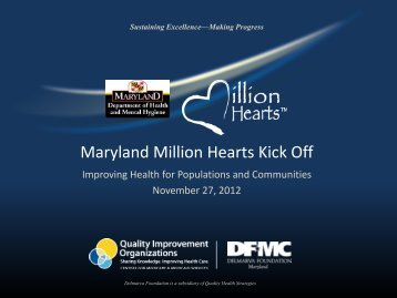 Maryland Million Hearts Kick-Off Webinar - Maryland.gov