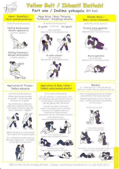 Illustrated Syllabus - Part 1 - the NMMU Judo Club