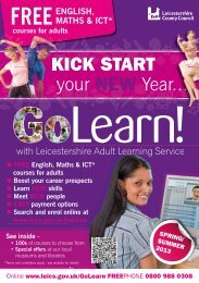 KICK START - Leicestershire County Council