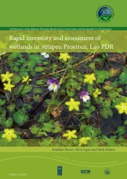 A rapid inventory and assessment of Wetlands in - Mekongwetlands ...