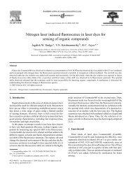 Nitrogen laser induced fluorescence in laser dyes for sensing of ...