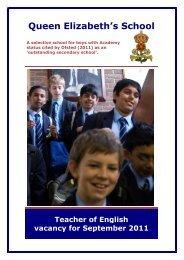 teacher of english - Queen Elizabeth's School