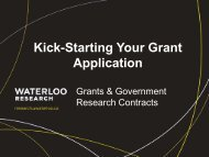 Kick-Starting Your Grant Application - Office of Research