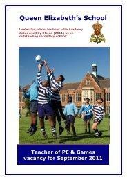 teacher of pe & games - Queen Elizabeth's School