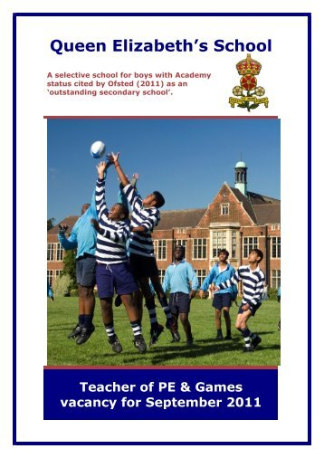 teacher of pe & games - Queen Elizabeth's School