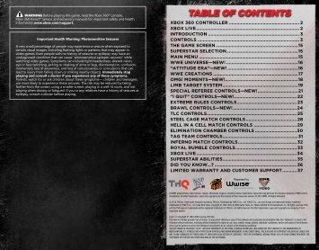 Click here to download the WWE '13 Manual - Everything on WWE ...