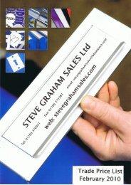 Kick Plates & Sheet Materials - Steve Graham Sales