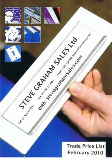Kick Plates & Sheet Materials - Steve Graham Sales