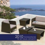 2010 Outdoortrends für ein neues Jahrzehnt - Möbel Riesen