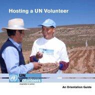 Hosting a UN Volunteer - United Nations Volunteers