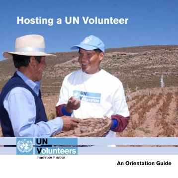 Hosting a UN Volunteer - United Nations Volunteers
