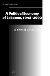 POLITICAL ECONOMY A Political Economy of Lebanon, 1948