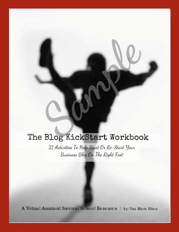 Blog Kickstart Workbook - Virtual Assistant Survival School