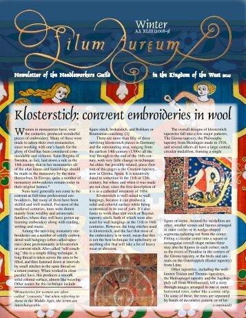 Klosterstich: convent embroideries in wool - West Kingdom ...