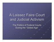 A Laissez Faire Court and Judicial Activism