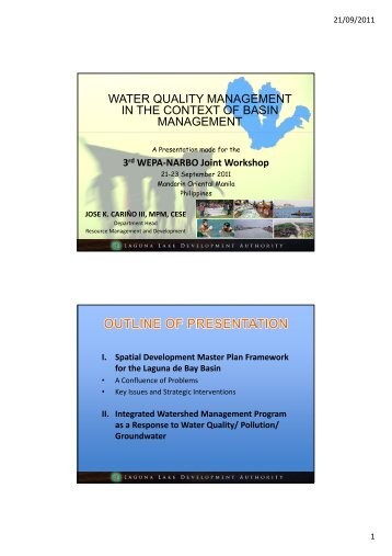 WATER QUALITY MANAGEMENT IN THE CONTEXT OF BASIN MANAGEMENT - WEPA