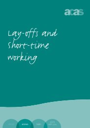 Guide to lay-offs and short-time working
