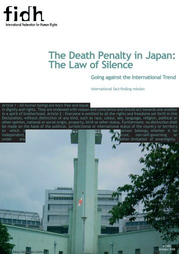 The Death Penalty in Japan - Office of the High Commissioner for ...