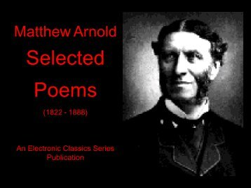 Selected Poems - Penn State University