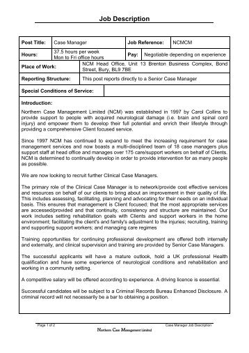 Job Description Housing Case Manager Mental Health    Haart