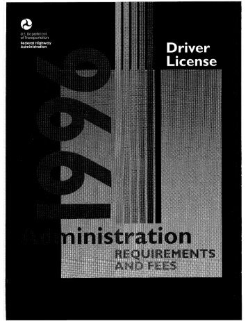 driver license - DOT On-Line Publications - Department of ...