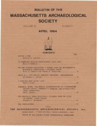 Bulletin of the Massachusetts Archaeological Society, Vol. 45, No. 1 ...